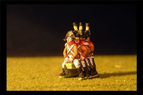 Wurst Riders for Kavalleriegeschutz x4 in one piece to put on gun carriage
