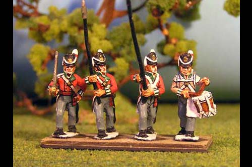 British/KGL Infantry Command Marching/Advancing Belgic Shako