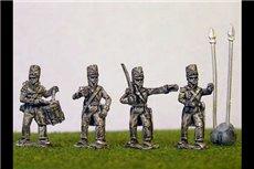 British/KGL Infantry Command Waiting Covered Belgic Shako
