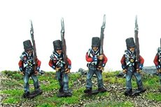 British/KGL Infantry Marching Covered Belgic Shako Flank Co
