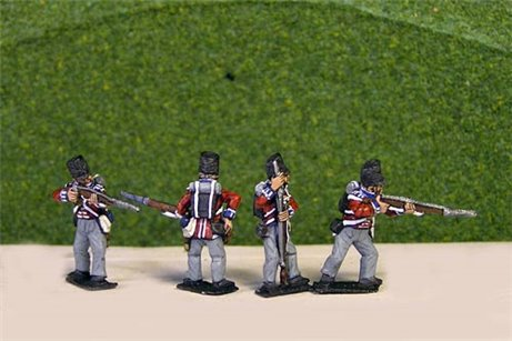 British/KGL Infantry Firing/Skirmish Covered Belgic Shako Flank Co