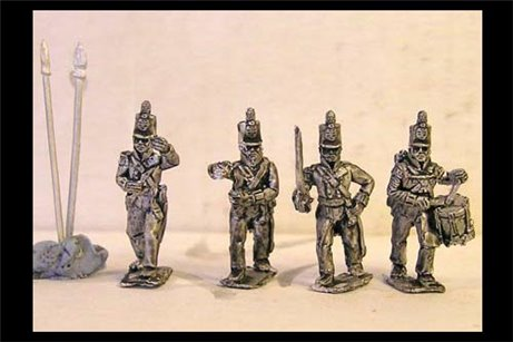 Infantry Command Marching/Advancing Stovepipe Shako
