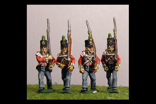 Light Infantry Marching Stovepipe Shako x 8 (4 variants, 2 of each)