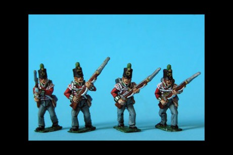 Light Infantry Advancing Stovepipe Shako x 8 (4 variants, 2 of each)