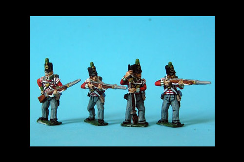 Light Infantry Firing/Skirmish Stovepipe Shako x 8 (4 variants, 2 of each)