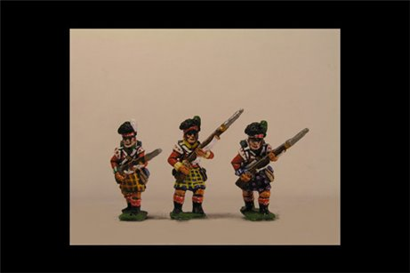 Scottish infantry in Kilts Advancing Flank Company