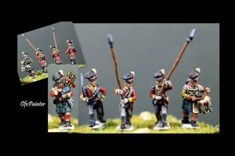 Scottish infantry in Kilts Command Marching / Advancing