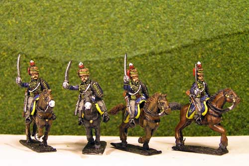 British & 1st KGL Hussars Charging x 4 (3 variants)