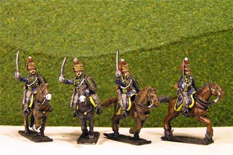 British & 1st KGL Hussars Charging x 4 (3 variants)