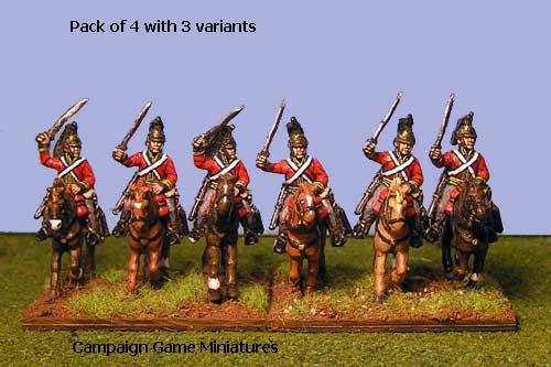 British Heavy Dragoons Charging x 4 (3 variants)