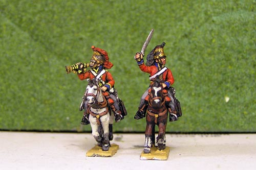 British Heavy Dragoons Command Charging x 4 (2 Officers & 2 Trumpeters)