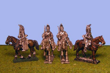 British Heavy Dragoons at Rest Sword on Shoulder x 4 (2 variants)