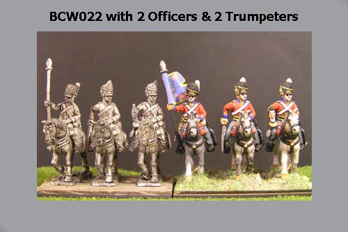 Mando Scots Greys Command at Rest (2 Officers & 2 Trumpeters)