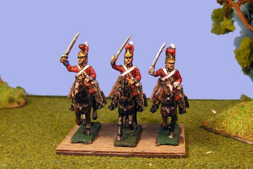 Lifeguards Charging (Household Cavalry) x 4 (3 variants)