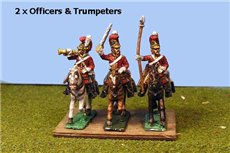 Lifeguards Command Charging  (Household Cavalry) x 4  (2 officers & 2 Trumpeters )
