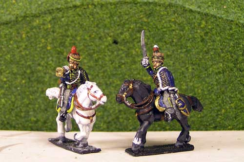 Peninsular British &  KGL Hussars Command Charging x 4 (2 Officers & 2 trumpeters)