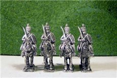 Peninsular British &  KGL Hussars at Rest Sword on Shoulder x 4 (2 variants)