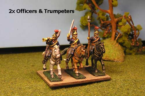 Royal Horse Guards Command Charging  (Household Cavalry) x 4  (2 officers & 2 Trumpeters )