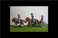 Peninsular British / KGL Artillery Limber with 4 horses and 2 riders & 1 Sitting Driver