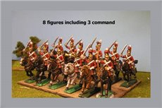 Lifeguards Charging (Household Cavalry) x 8 with Command