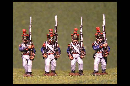 Voltigeurs/Grenadiers Marching