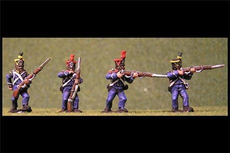 Voltigeurs/Grenadiers Firing Line / Skirmish 1 tuft plume