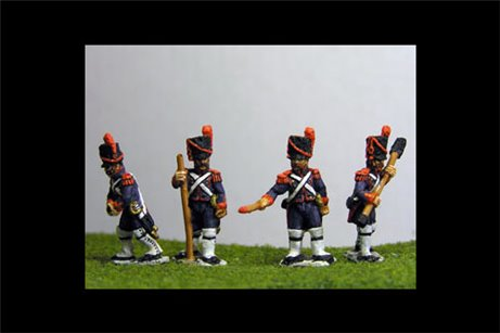 French Old Guard Foot Artillery Crew Firing