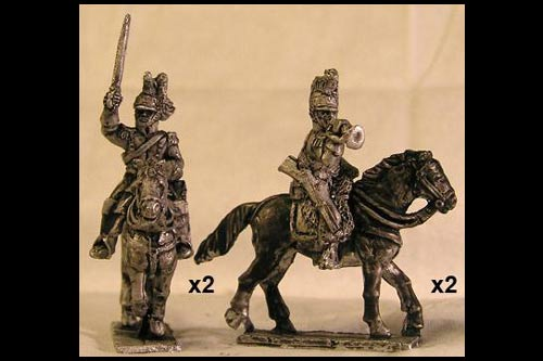 French Dragoons Command Charging (x4)