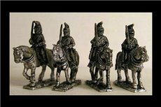 French Dragoons At Rest Shouldered Sword (x4)