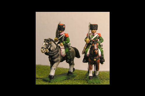 Chasseurs a Cheval Elite in Colback and epaulettes Shouldered Sword (x2)