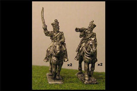 Chasseurs a Cheval Command Charging (x4)
