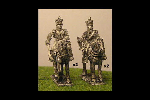Chasseurs a Cheval Command At Rest (x4)