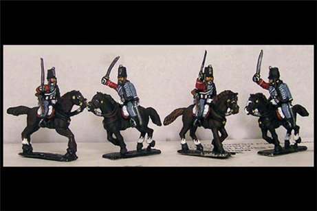 French Hussars Charging (x4)