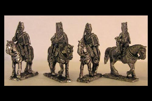 French Hussars At Rest (x4)