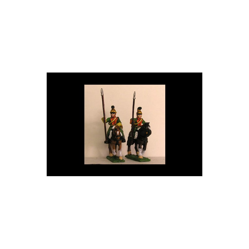 French Line Lancers in Helmet Lance upright (x4) (2 variants)