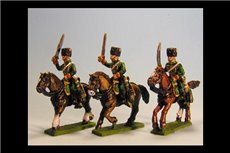 Chasseurs a Cheval de la Guard Charging Campaign Dress (4 figs with 3 variants)