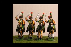 Chasseurs a Cheval de la Guard Charging Full Dress (4 figs with 3 variants)