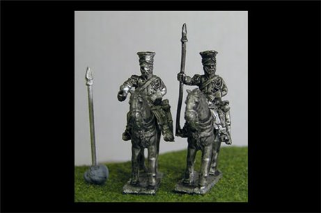 Imperial Guard Polish & Dutch Lancers At Rest lance upright in covered Czapka x 4 (2 variants)