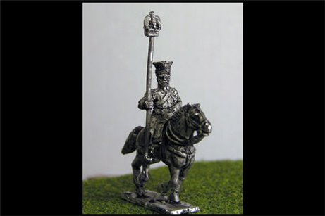 Imperial Guard Polish & Dutch Lancers Eagle Bearer in covered Czapka x 2 figs