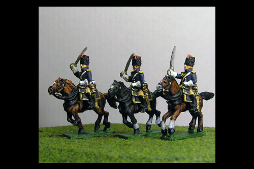 Grenadiers a Cheval Charging (4 figs with 3 variants)