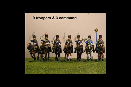 Grenadiers a Cheval Charging with Command 8 figs
