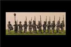 French Infantry in Greatcoat with Eagle Bearer & Command Marching
