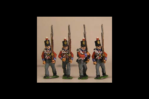 Hanover Landwehr Marching in Stovepipe Shako