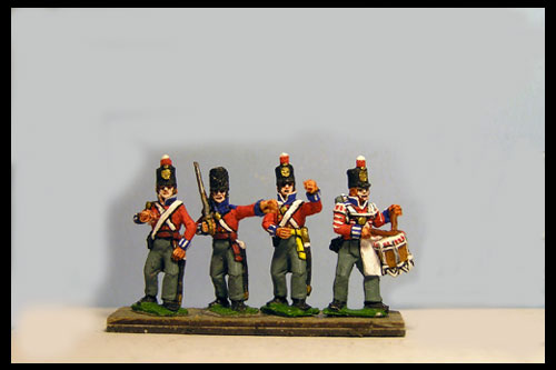 Hanover Landwehr Command Standing in Stovepipe shako