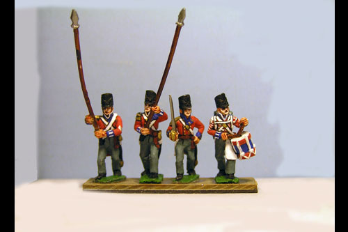 Hanover Line Command Marching Covered Belgic Shako