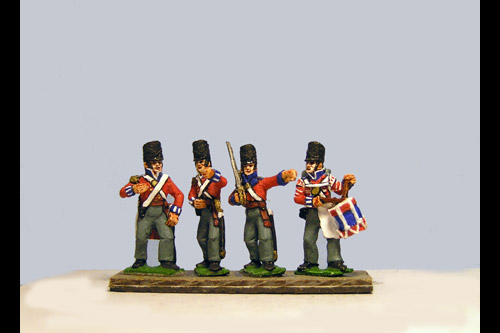 Hanover Line Command Firing Line/Skirmish Covered Belgic Shako