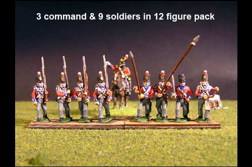 Hanover Landwehr Marching in Stovepipe Shako with Command