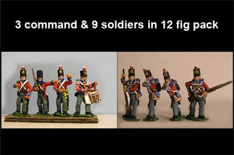 Hanover Landwehr Firing Line/Skirmishing in Stovepipe Shako with Command