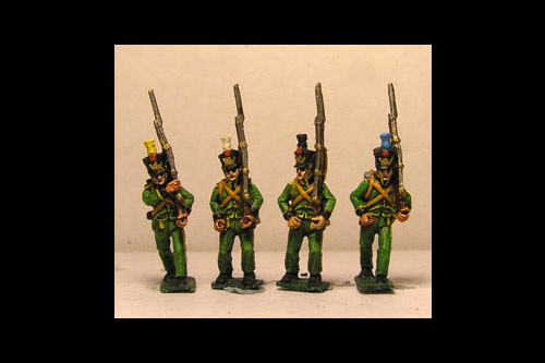 Centre Companies 1st & 2nd Rgts, or Grenadiers 1st Rgt & Landwehr, Tuft Plume Marching