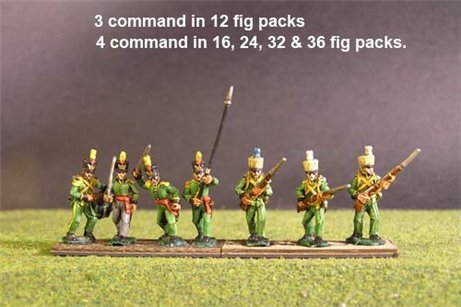 1st Rgt Advancing, Covered Shako for all Troops.